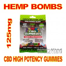 HEMP BOMBS CBD HIGH POTENCY GUMMIES 125mg