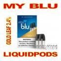MY BLU LIQUIDPODS GOLD LEAF 2.4%