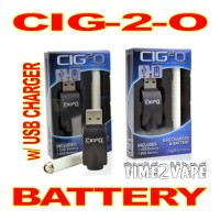 CIG-2-O E-CIGARETTE BATTERY  w/ USB CHARGER