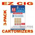 EZ CIG BLUE LABEL 3-PK CARTOMIZERS