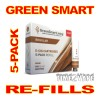 SUPER E-CIG GREEN SMART REFILLS 5-PACK