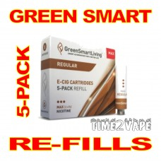 SUPER E-CIG GREEN SMART REGULAR MAX REFILLS 5-PACK