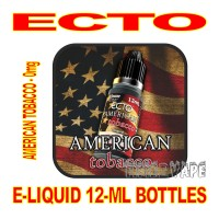 ECTO E-LIQUID 12mL BOTTLE AMERICAN TOBACCO 0mg