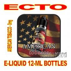 ECTO E-LIQUID 12mL BOTTLE AMERICAN TOBACCO 0mg