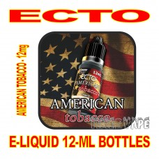 ECTO E-LIQUID 12mL BOTTLE AMERICAN TOBACCO 12mg