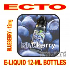 ECTO E-LIQUID 12mL BOTTLE BLUEBERRY 12mg