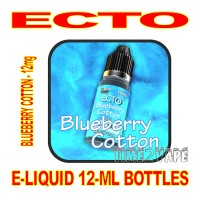 ECTO E-LIQUID 12mL BOTTLE BLUEBERRY COTTON 12mg