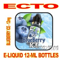 ECTO E-LIQUID 12mL BOTTLE BLUEBERRY ICE 12mg