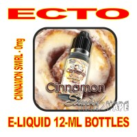 ECTO E-LIQUID 12mL BOTTLE CINNAMON SWIRL 0mg