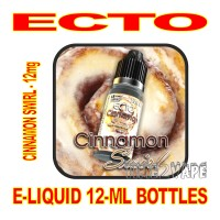 ECTO E-LIQUID 12mL BOTTLE CINNAMON SWIRL 12mg