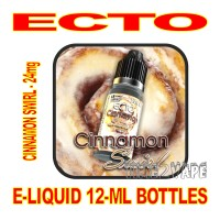 ECTO E-LIQUID 12mL BOTTLE CINNAMON SWIRL 24mg