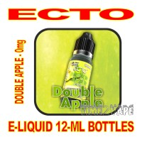 ECTO E-LIQUID 12mL BOTTLE DOUBLE APPLE 0mg