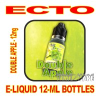 ECTO E-LIQUID 12mL BOTTLE DOUBLE APPLE 12mg