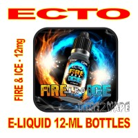 ECTO E-LIQUID 12mL BOTTLE FIRE & ICE 12mg