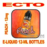 ECTO E-LIQUID 12mL BOTTLE PEACH 12mg