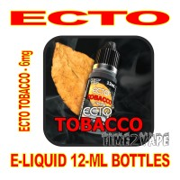 ECTO E-LIQUID 12mL BOTTLE ECTO TOBACCO 6mg