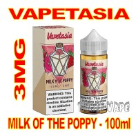VAPETASIA SIGNATURE MILK OF THE POPPY 3MG - 100mL